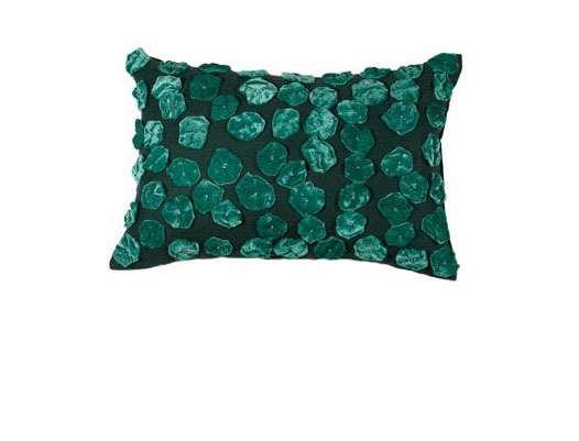 TOURMALINE HOME TEAL ANEMONE PILLOW