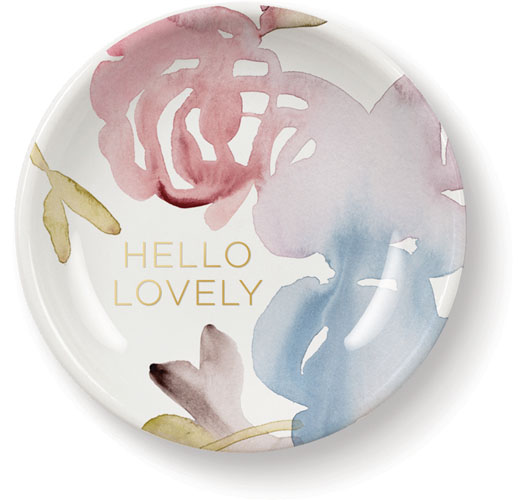 FRINGE STUDIO WATERCOLOR FLORAL MINI ROUND TRAY