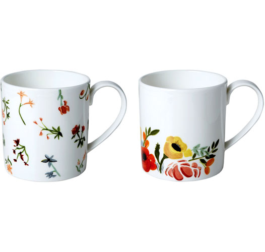 TWIG NY LANGUAGE OF FLOWERS MUGS / SET OF 2