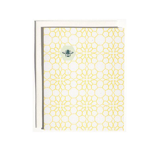 JUNE & DECEMBER HONEYCOMB FLOWERS CARDS / BOX OF 8