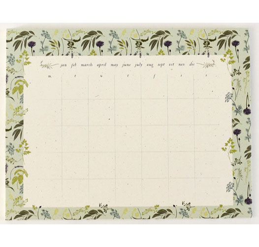 JUNE & DECEMBER GARDEN HERB CALENDAR DESK PAD