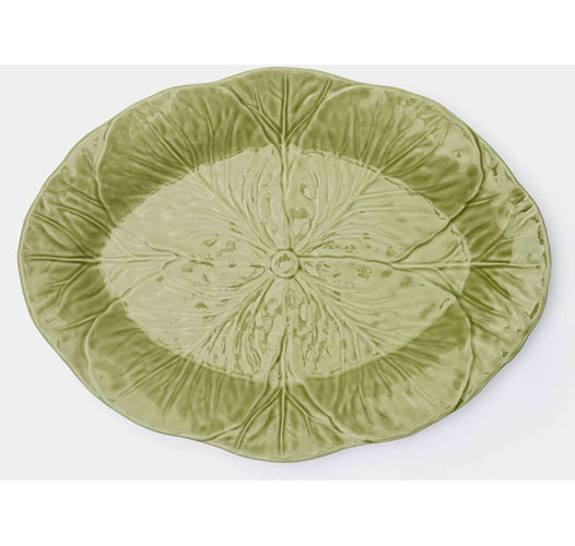 BLUE PHEASANT CLARISE CABBAGE LEAF PLATTER - LARGE