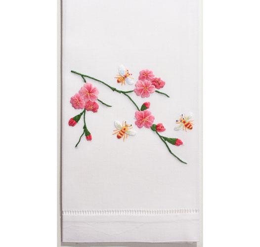 HENRY HANDWORK BEES & FLOWERS GUEST TOWEL