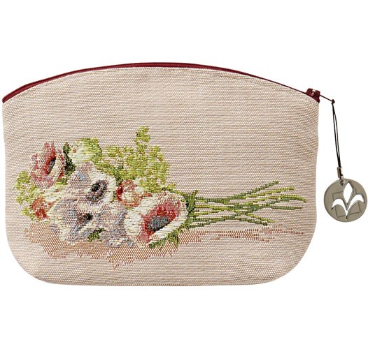 ART DE LYS BOUQUET OF FLOWERS COSMETICS BAG