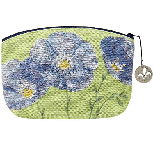 ART DE LYS FLAX FLOWERS COSMETICS BAG