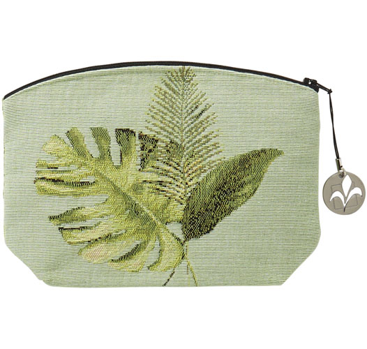 ART DE LYS TROPICAL LEAVES COSMETICS BAG
