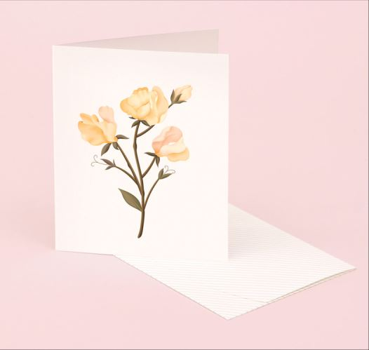 CLAP CLAP SWEET PEA SCENTED CARDS / SET OF 5