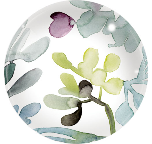 FRINGE STUDIO WATERCOLOR LEAVES DOME PAPERWEIGHT