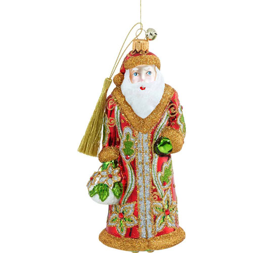 JINGLE NOG CLAUS DE FLORES ORNAMENT