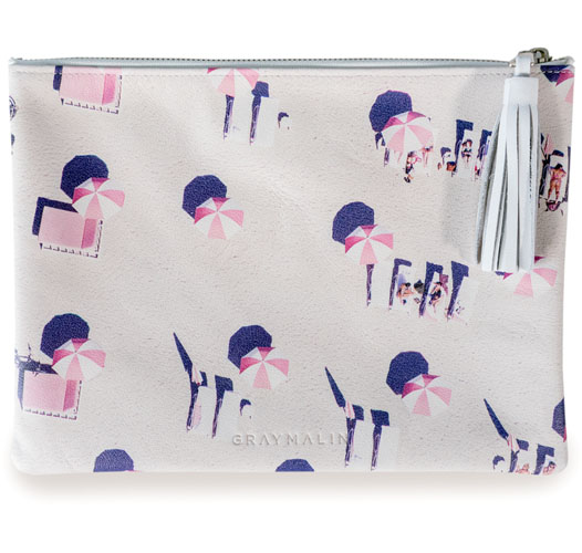 GRAY MALIN THE PINK UMBRELLAS POUCH