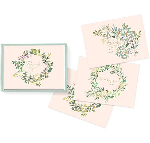 FRINGE STUDIO EUCALYPTUS THANK YOU CARDS - SET OF 12