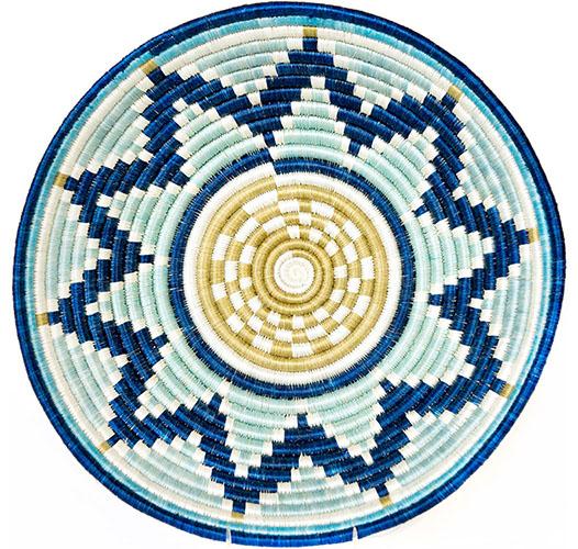 KAZI EXTRA LARGE SILVER BLUE + NAVY BASKET