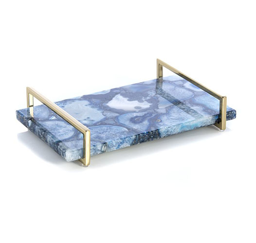 SHIRALEAH BLUE AGATE TRAY