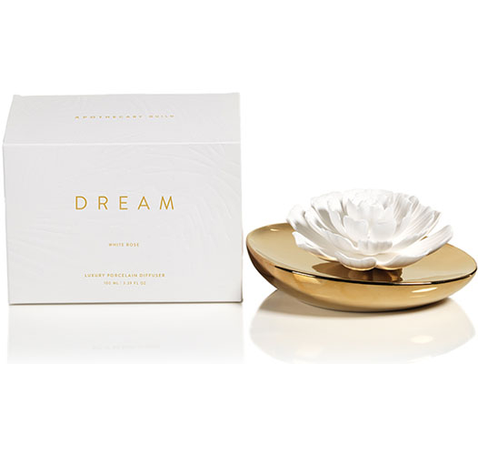 ZODAX DREAM PORCELAIN WHITE ROSE DIFFUSER