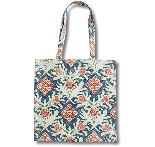 UTOPIA GOODS FIREWHEEL TRELLIS ROYAL TOTE BAG