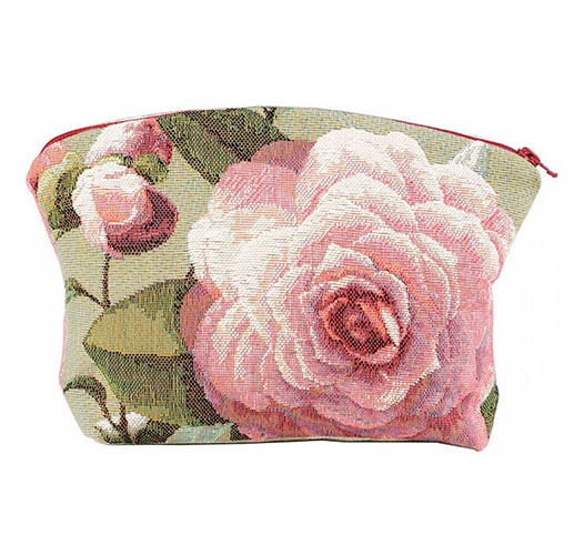ART DE LYS CAMELLIA COSMETICS BAG