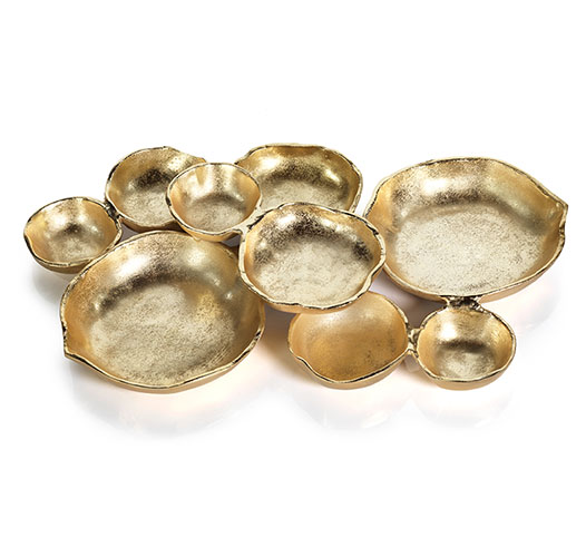 ZODAX CLUSTER OF NINE ROUND SERVING BOWLS