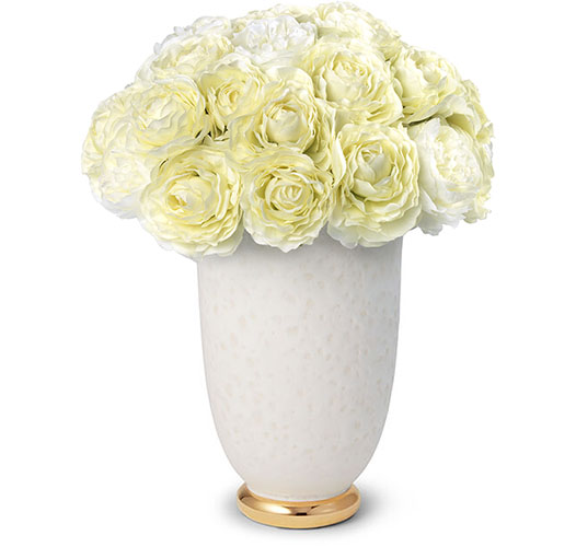 WHITE RANUNCULUS BOUQUET IN MARION TAPERED VASE