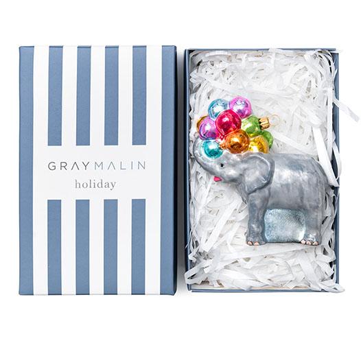 GRAY MALIN THE ELEPHANT ORNAMENT