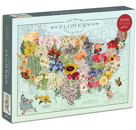 WENDY GOLD USA STATE FLOWERS PUZZLE
