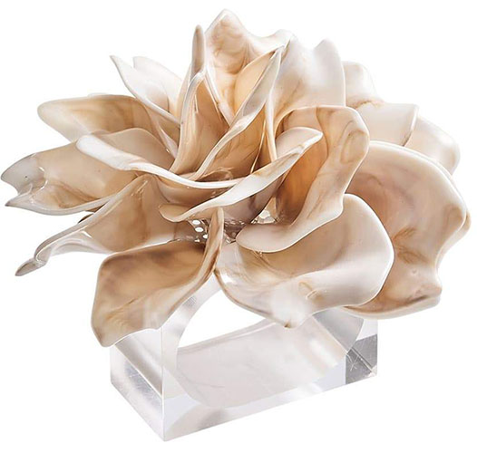 KIM SEYBERT DAHLIA NAPKIN RINGS, SET OF 4