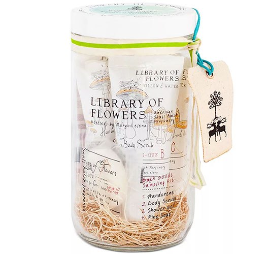 LIBRARY OF FLOWERS WILLOW & WATER BATH GOODS SAMPLING KIT