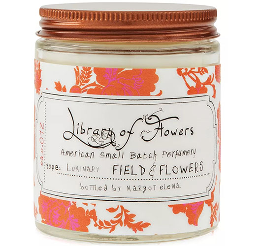 LIBRARY OF FLOWERS FIELD & FLOWERS CANDLE