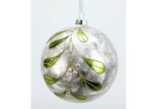 FROSTED LEAVES ORNAMENT
